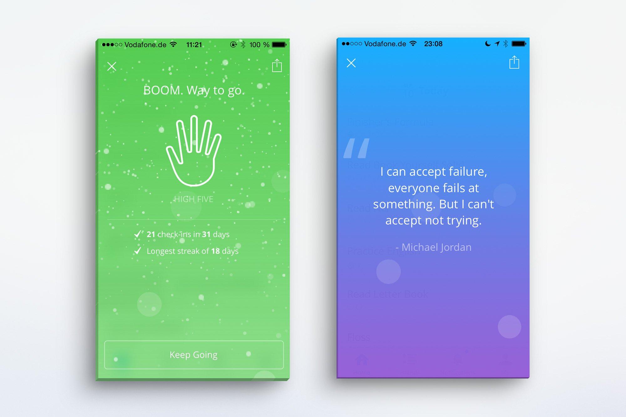 Habit Tracking mit der coach.me App | vanilla-mind.de