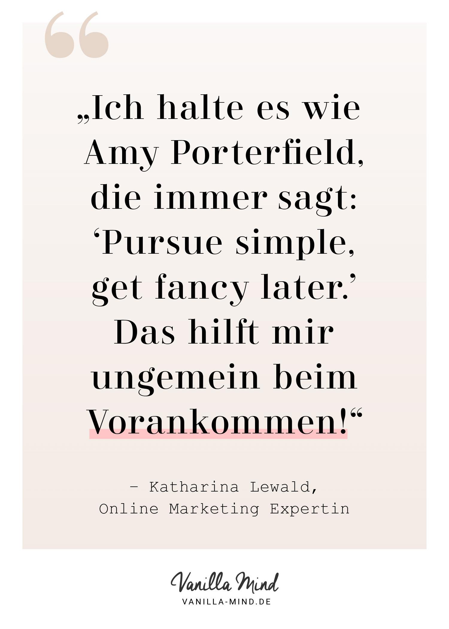 Interview mit Online Marketing Profi Katharina Lewald: Das rät sie ihren Kunden, um Perfektionismus zu besiegen und mehr Freude an der Arbeit zu finden. #Perfektionismus #Interview #Girlboss #Erfolg #Job #Arbeit #selbstständig #Marketing