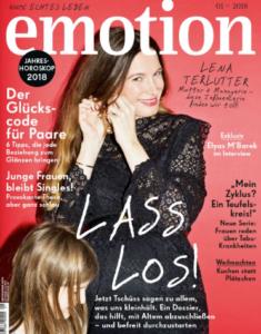 Vanilla Mind im emotion Magazin 1/2018