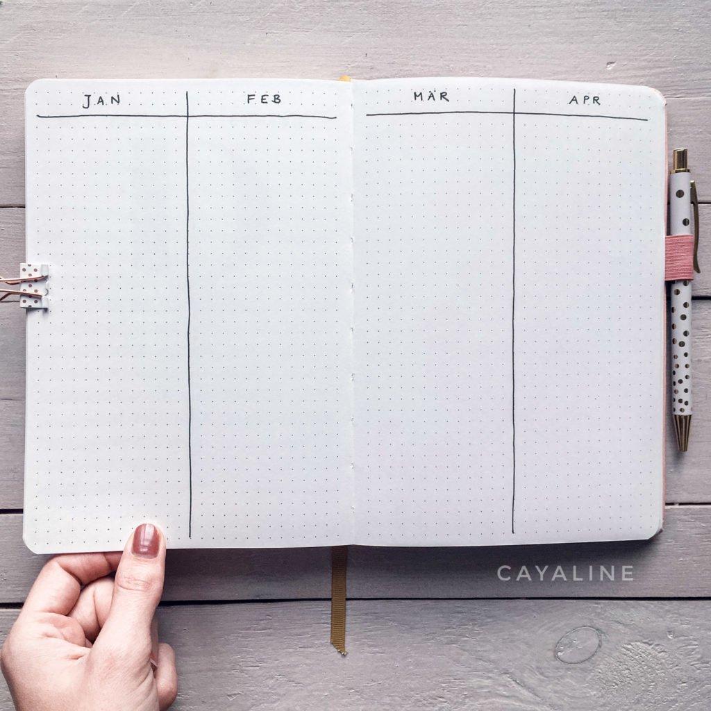 Bullet Journaling leicht gemacht: Profi Carolin @cayaline zeigt, wie man super einfach startet. #bullet #journal #ideen #inspiration #journaling #veränderung #ziele #planer #wachstum #psychologie #organisation #introvertiert #stillundstark #vanillamind