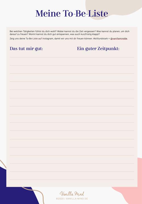 To-Be statt To-Do! Was tut dir gut?#kreativsein #gibnichtauf #achtsamkeit #stillundstark #podcast