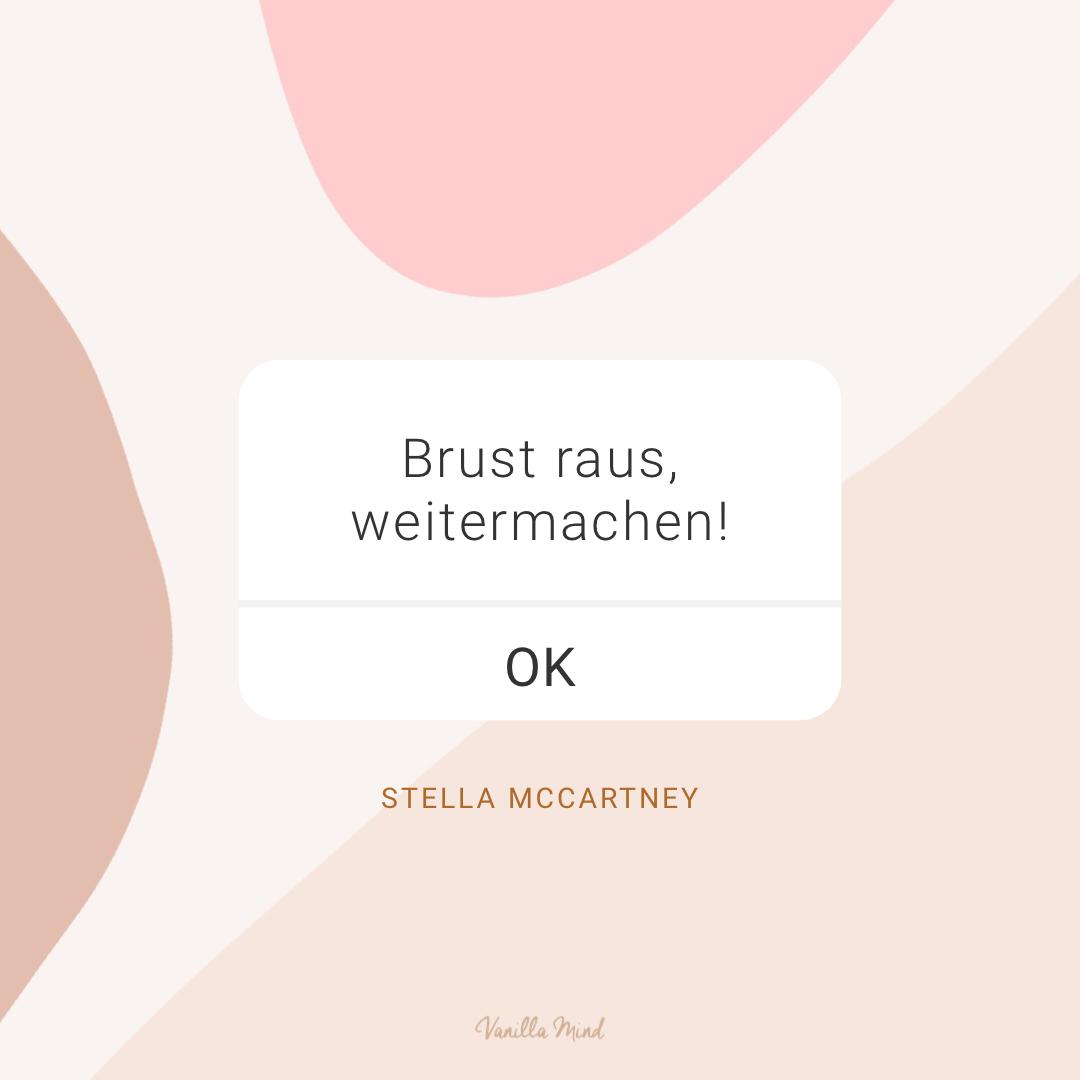 Brust raus, weitermachen! – Stella McCartney #stillundstark